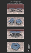 PARAMETRIC STUDY TENSEGRITY TABLES / STOOLS - 01
