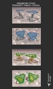 PARAMETRIC STUDY TENSEGRITY TABLES / STOOLS -04