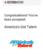 Accepted by Americas Got Talent!!!