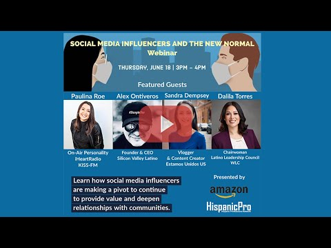 Social Media Influencers and the New Normal Webinar - Highlights