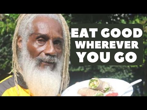 Aris Latham: How to find and eat whole raw vegan vegetarian food or Sunfired food wherever you go.