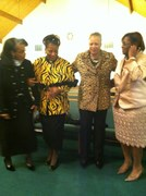 REV. ELAINE STEELE AND REV. DR. MARTHA LEWIS WITH REV. DONNA BUTLER AND MRS. STARNES
