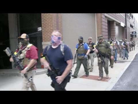 III% militia arrives in Louisville ahead of NFAC rally, two BLM activists arrested
