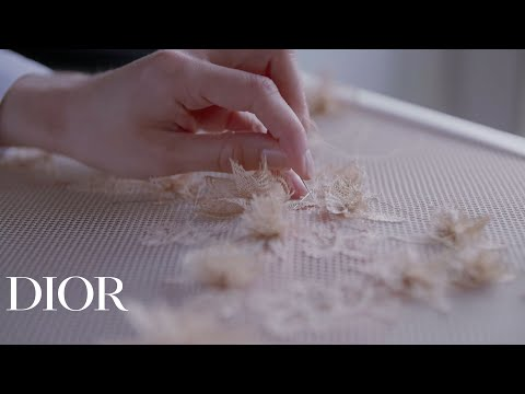 Savoir-faire of tombolo lace | Dior 2020 collection features Tombolo