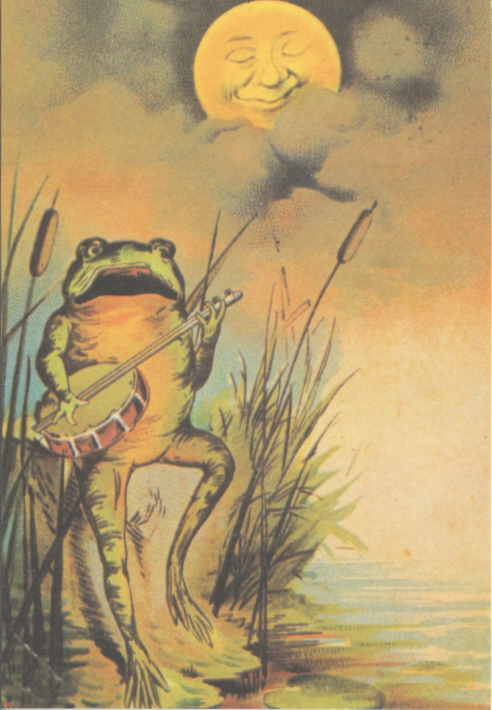 FROG WITH BANJO BY MOOLIGHT