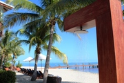 Shower on Beach Night to Pier Chabil Mar Resort Belize