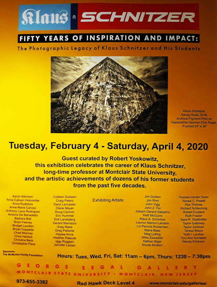 Robert Eustace... Poster for the Art Exhibit: 'Klaus Schnitzer: 50 Years of Inspiration and Impact'...