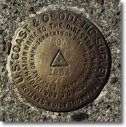 Example of Geodetic Control marker in Oregon