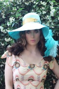 The House Of Hats Daydreamer Blue Straw Sixties Style Hat Millinery Australia Hat Shop Syndey