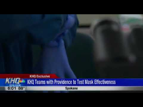 KHQ teams with Providence to test Mask Effectiveness.