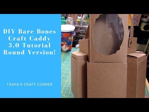 DIY Paper Craft Caddy 3.0 Hexagonal Craft Caddy Tutorial (Bare Bones Edition)