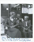 Johnny Washbrook signed photo with Gene Evans and Anita Louise
