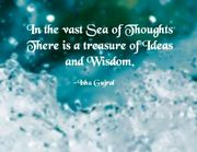 QUOTE IN VAST SEA OF THOUGHTS ISA