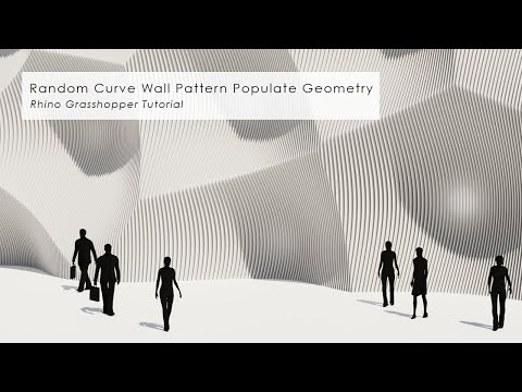 Random Curve Wall Pattern Populate Geometry Rhino Grasshopper Tutorial