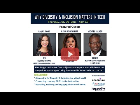 Why Diversity and Inclusion Matters in Tech Webinar - Highlights