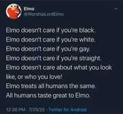 Tastes great to elmo
