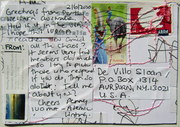 Mail art by Penny Reinecke (Cottesloe, Western Australia)