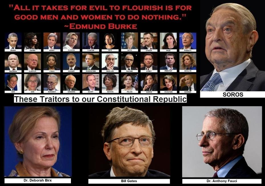 ASK TRUMP WHY THESE JEW AND GOYIM TRAITORS ARE NOT ARRESTED YET