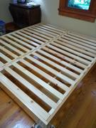 King Size Platform Bed Top View
