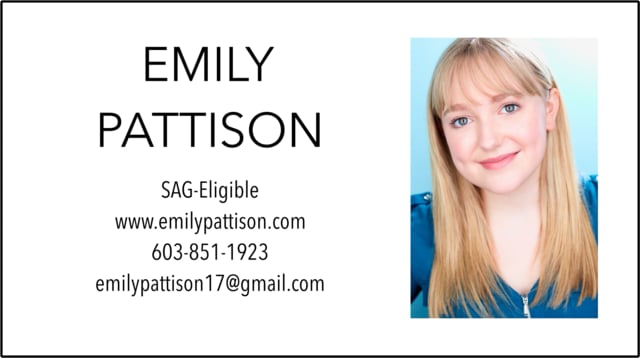 Emily Pattison - Demo Reel - 2019