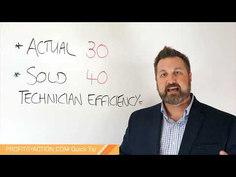Profit By Action Quick Tip: Technician Efficiency