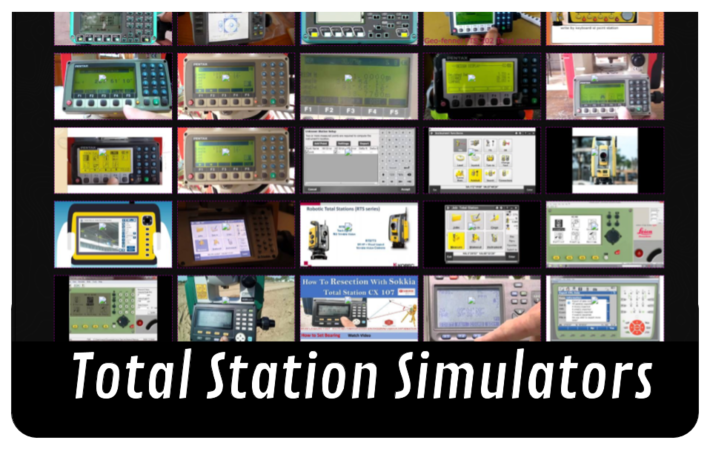 Total Station Simulators and Tutorials for Land Surveyors