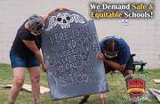 Teachers Plant Fake Tombstones to Represent Kids Dying From The Virus