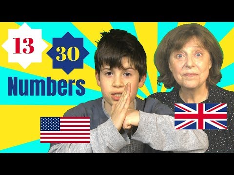 Saying numbers in British and American English (1-100)