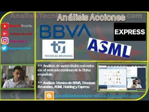 Video Análisis con David Fraile: BBVA, Tecnicas Reunidas,ASML Holding y Express