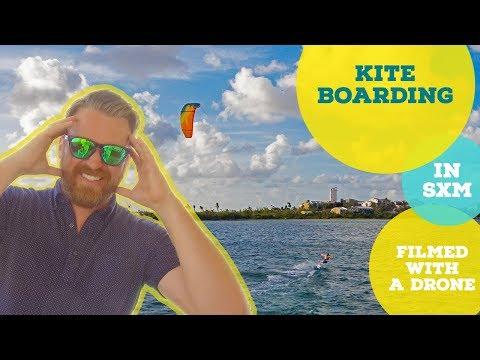 Kiteboarding filmed with a DJI Phantom 4