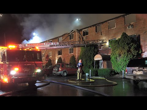 Massive fire destroys larger apartment building in Chester County, Pennsylvania