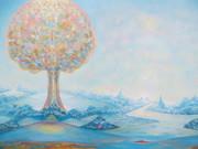 L'arbre sphérique  40 x 60  huile
