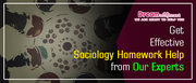 Get Effective Sociology Homework Help from Our Experts