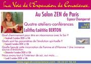 4 ateliers-conférences de Lalitha Berton au salon Zen de Paris