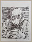 le masque 30x40 dessins graphite de Sylviane J.Tirez 200euros
