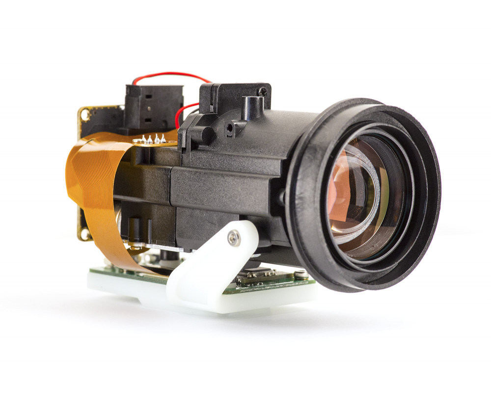 Lightweight optical zoom motorized camera with h.264 codec suitable for UAV