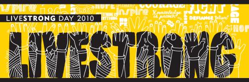 Banner do LIVESTRONG DAY 2010