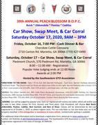 3rdANNUAL PEACH PLOSSOM B.O.P.C. CAR SHOW - SWAP MEET - CAR CORRAL   MEET - CAR CO