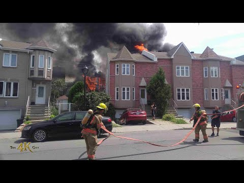 Montréal: Fire Rips Through Townhouse Complex