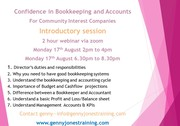 Confidence in Bookkeeping/Accounting for CICs