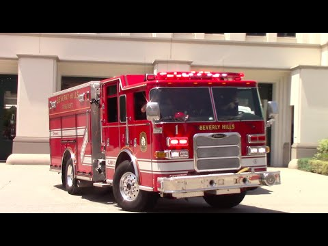 Beverly Hills, CA Engine 1 Responding