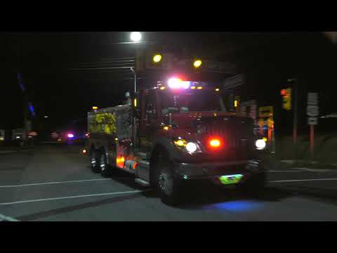 Fire Department Tankers Responding to Fire in Chester County, PA