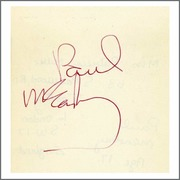 Paul McCartney 1968 Cavendish Avenue London Autograph (UK)