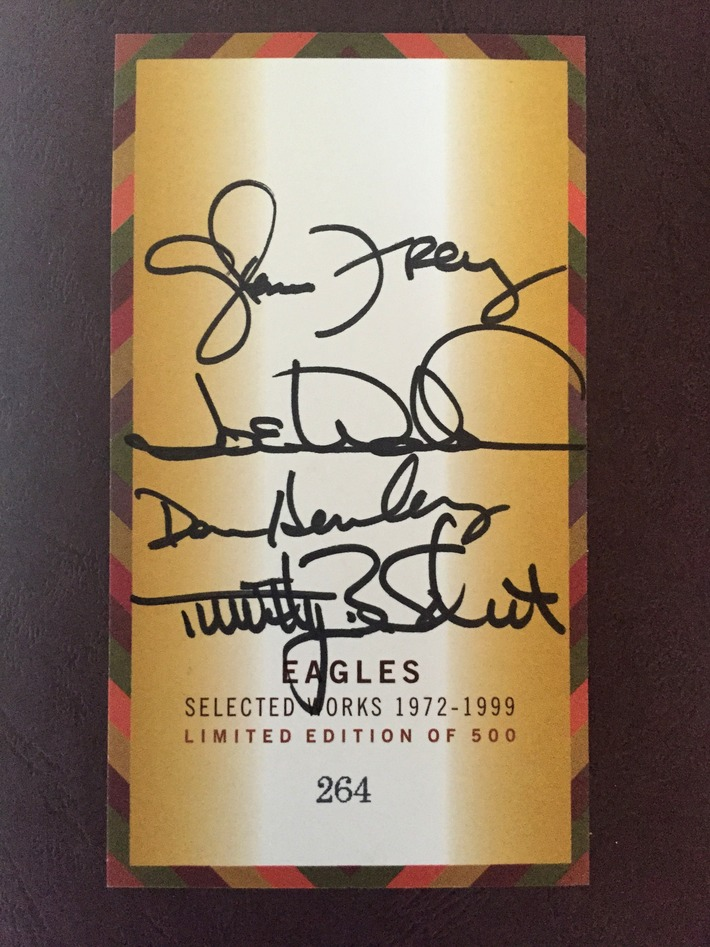 Eagles Signed Selected Works 1972-1999 Limited Edition CD Box Set