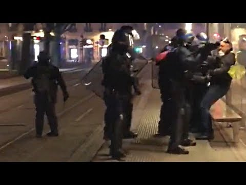 Video: Macron's Handpicked Riot Police Use Their Batons to Beat an Old Frenchman. This WILL Come to America if We Allow the Globalists to Remain in Power!