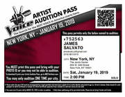 First Ever Audition i Had with The Voice Winning A Front of The Line Pass!!