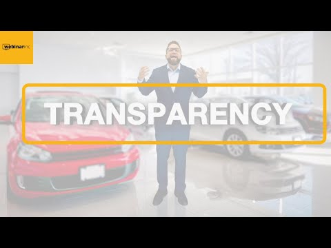Transparency - Daily Tips to Successfully Sell Cars at a Dealership