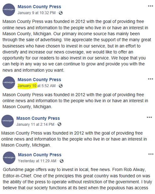 Mason County Press'd for Cash – The Ludington Torch