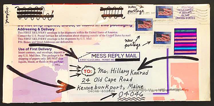 envelope sent from fellow IUOMA member Richard...THANK YOU!