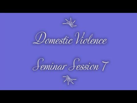 "Domestic Violence Seminar Session  7 (""Self-Bitterness"") on 8-17-2020"